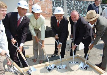 breaking ground at new property